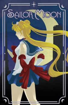 Art Deco Sailor Moon by Ranefea
