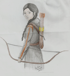 Katniss (The Hunger Games) by PaulinaMagdalena