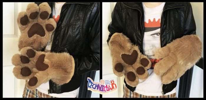 (FOR SALE) Caramel Fursuit Handpaws by TECHNlCOLOUR