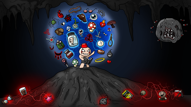 Binding of Isaac wallpaper by MechanicalFirefly