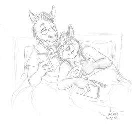 Fox Friday, Cuddle time is best time. by RABBI-TOM
