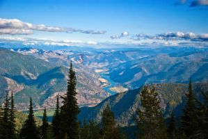 The Flathead River from Pat's Knob by quintmckown