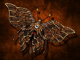 Steampunk Butterfly by TickTix