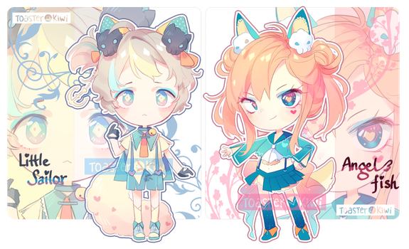 [CLOSED] Auction Adopts: Sailor Themed Fluffian by ToasterKiwi