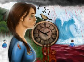 Tick Tock Painting - Digital redo by TheSearchingEyes