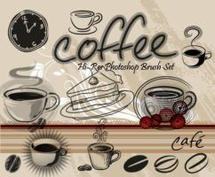 Coffee Breaktime-PS Brushes by fiftyfivepixels