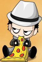 Taro eating Pizza by KingTaro by LordTaro