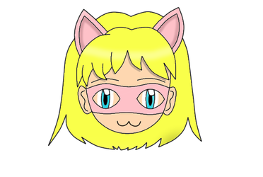Pink Pussycat Chibi Face New 2 by laprasking