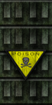 Green Cement Wall with Poison Sign 02 by Hoover1979