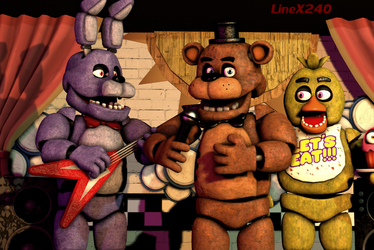[SFM FNAF1] Beaten Night 5-7 - Background (Remake) by LineX240