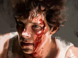 Benedict Cumberbatch - Little Favour by WisesnailArt