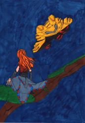 Aloy assit to the Samus arrival on Earth by LOrdalie
