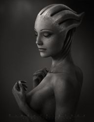 A Photographer on the Citadel - Daydreaming Liara by pineappletree