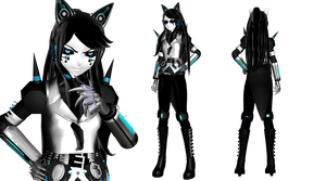 [MMD] Mecha Kitty Gijinka (BATIM OC) by DrStinger
