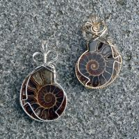 More Ammonite Pendants by magpie-poet