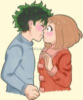 [BNHA] surprise kiss by Abbyslullaby