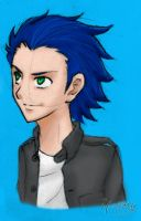 Sonic human by Hellody