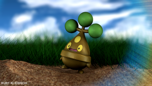 Bonsly 3D Pokemon