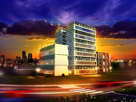 Architectural rendering by carltolores