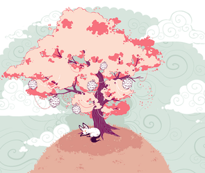 the fox and the tree by nuuti