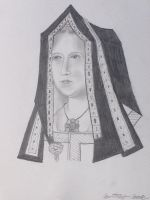 Elizabeth Of York in pencil by Xx-Vintage-Girl-xX