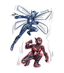 Wasp and Ant-Man by msciuto