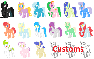 5 Point Adoptables [CLOSED] by inkaXkirby