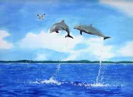 dolphins by Isari