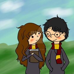 Harry And Hermione by Shiomy