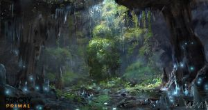 concept art of farcry primal by waywayart