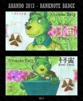 Abando 2013 Banknote Badge by HweiChow