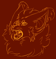 Angry floofer by MonsterMeds