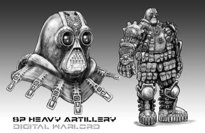 Heavy Artillery Character - Digital Warlord by JWraith