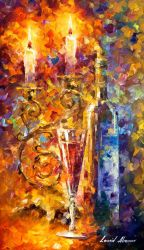 Sweet Wine by Leonid Afremov by Leonidafremov