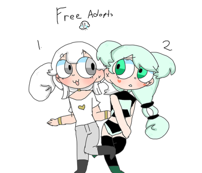 2 Crazy Hair Free Adopts by Candiyees
