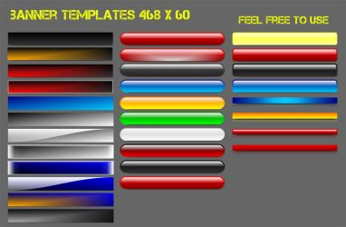 banner templates 468 x 60 by Remes58