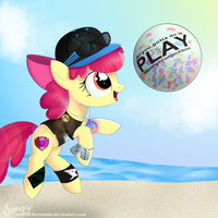 At The Beach by SongbirdSerenade