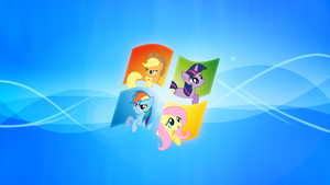 Windows My Little Pony Wallpaper by piranhaplant1