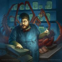 Arkham Horror Dr. Milan Christopher by AnthonyDevine