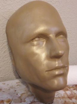 Brass cold cast android face by GriffinLeather