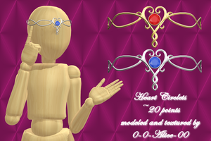MMD Heart Circlet ~20 point DL~ by 0-0-Alice-0-0