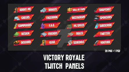 [Orange x Red] Victory Royale 2018 - Twitch Panels by lol0verlay