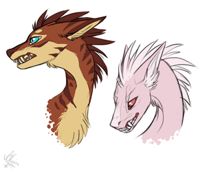 More fluffy dragons by Alcira