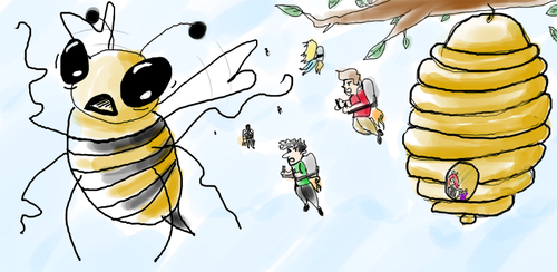 Darned bees. by SwitchFG