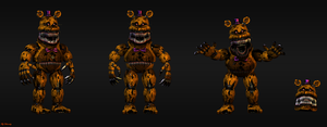 Nightmare Fredbear by HectorMKG