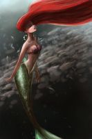 Ariel swimming with fishies by ThereseOfTheNorth