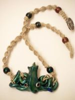 Squid Macrame Necklace collab by KimsButterflyGarden