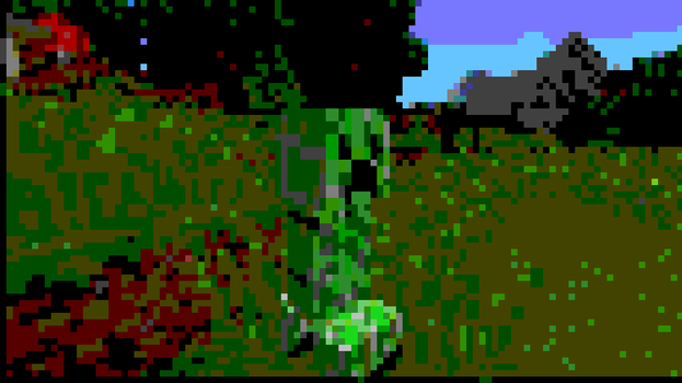 Pixelated Creeper by TheDeath1