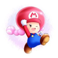 Plumber Toadette by AlcyoneAX