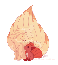 Vulpix and Ninetails by KeithByrne